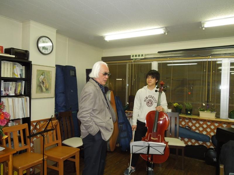絵画とチェロ、制作者と演奏者